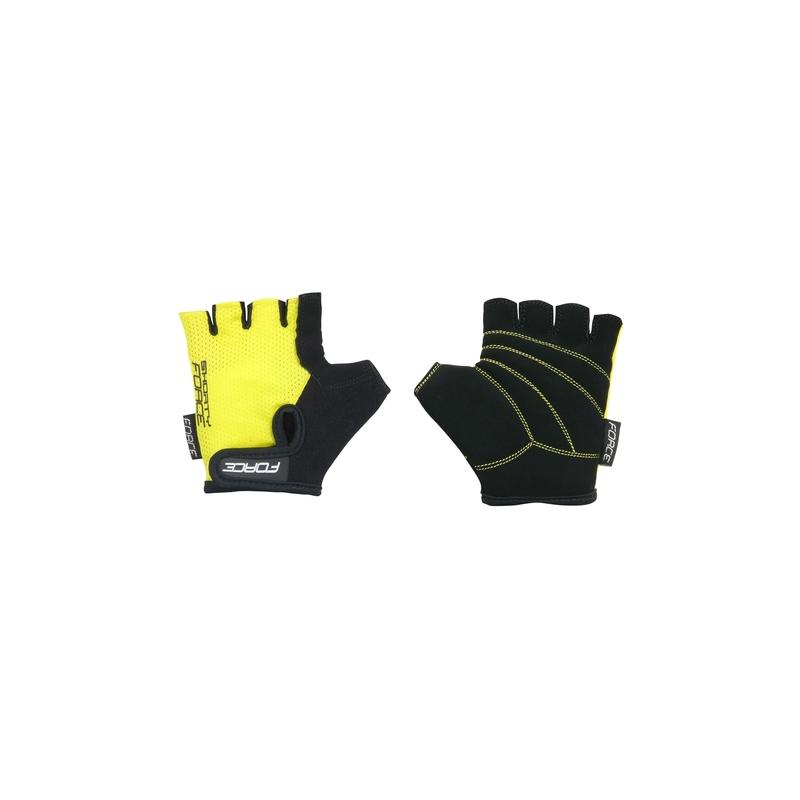 Force rukavice SHORTY dětské, žluté