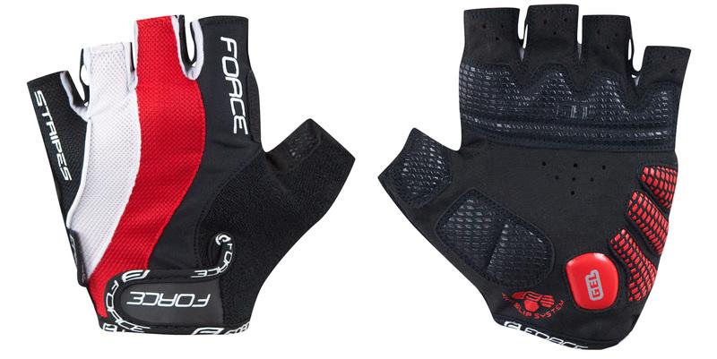 Force rukavice STRIPES gel červené