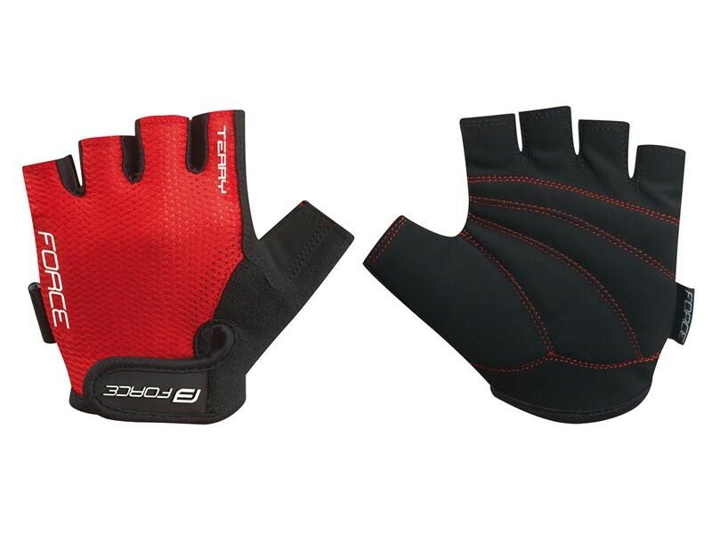 Force rukavice TERRY červené