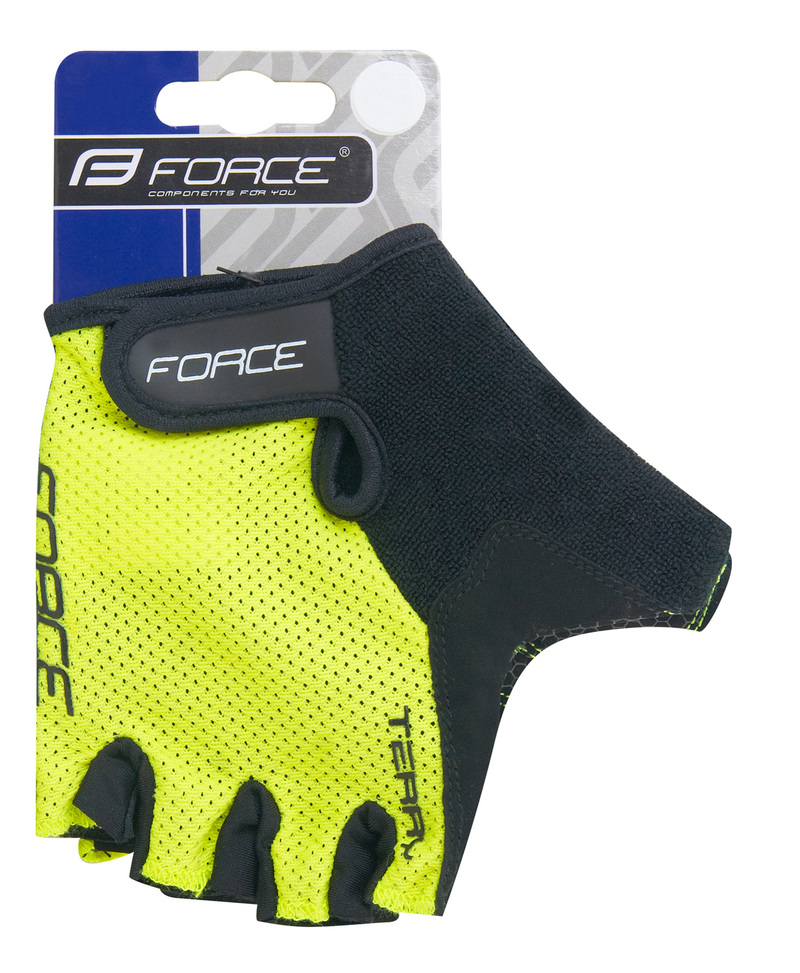 Force rukavice TERRY fluo