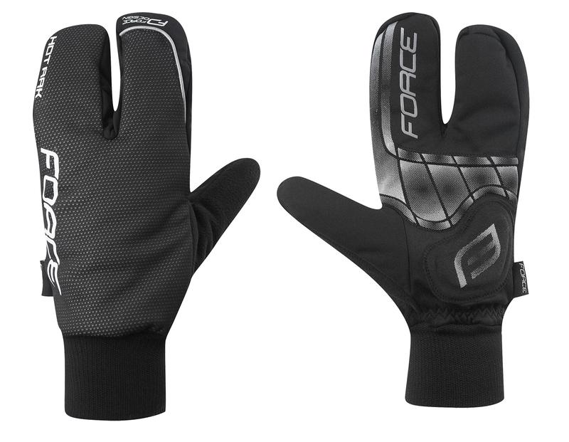 Force rukavice zimní HOT RAK 3-prsté černé