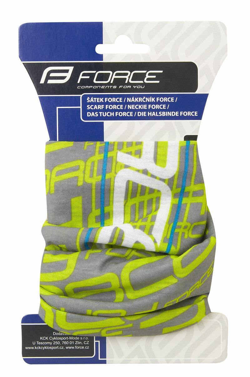 Force šátek multifunkční FORCE léto, fluo-šedý, UNI