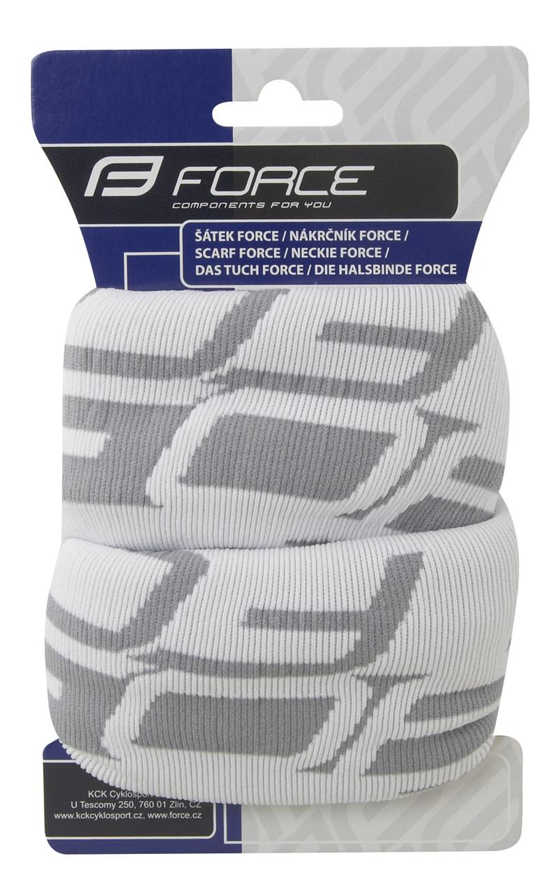 Force šátek multifunkční FORCE zima, bílo-šedý, UNI