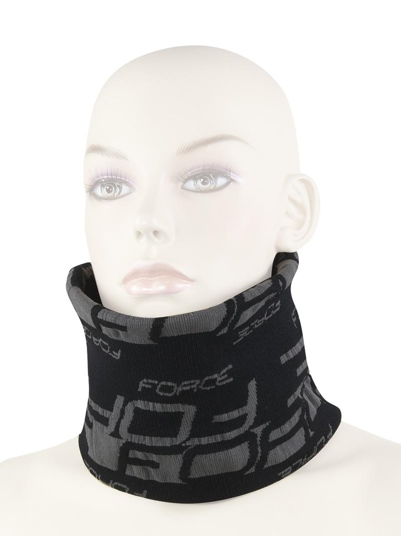 Force šátek multifunkční FORCE zima, černo-šedý, UNI