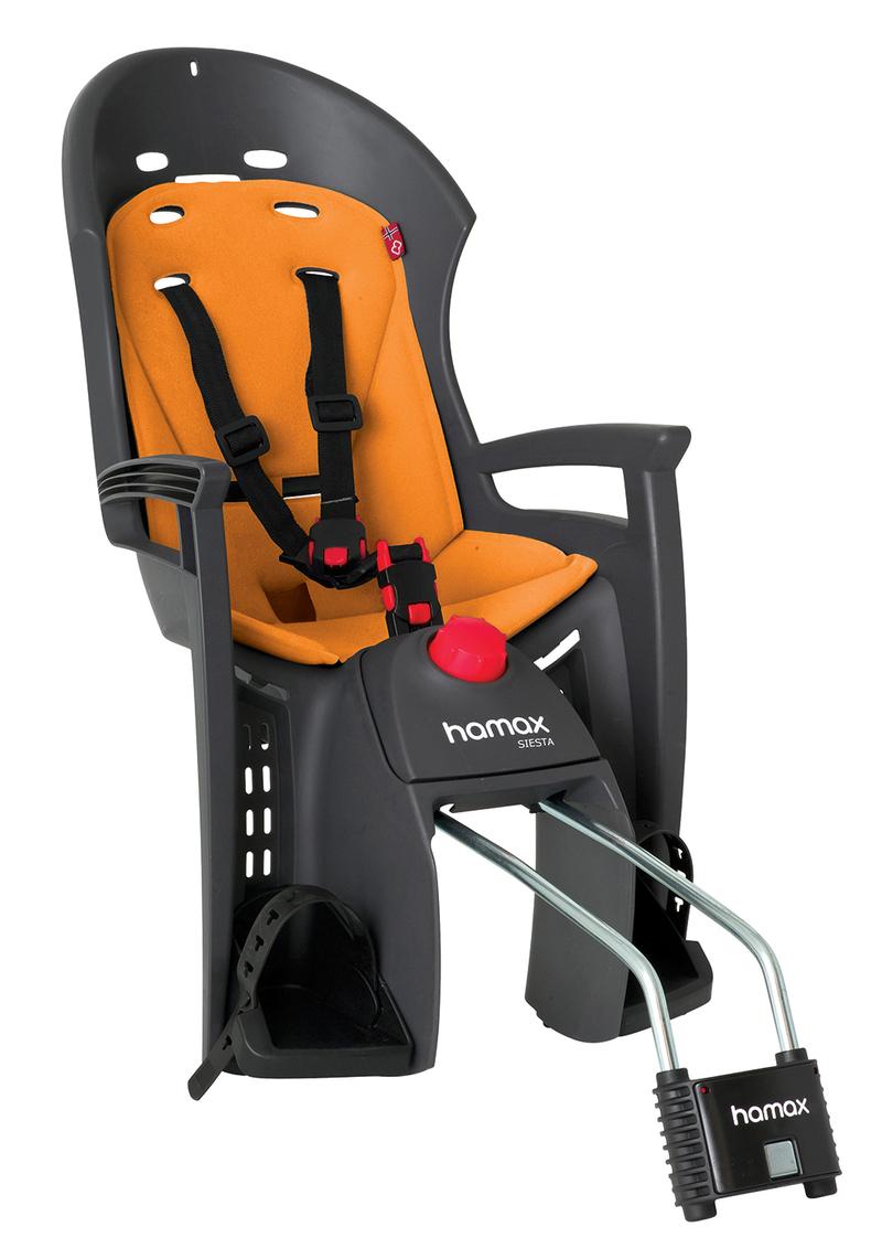 Hamax sedačka SIESTA zadní, tmavě šedá/oranžová