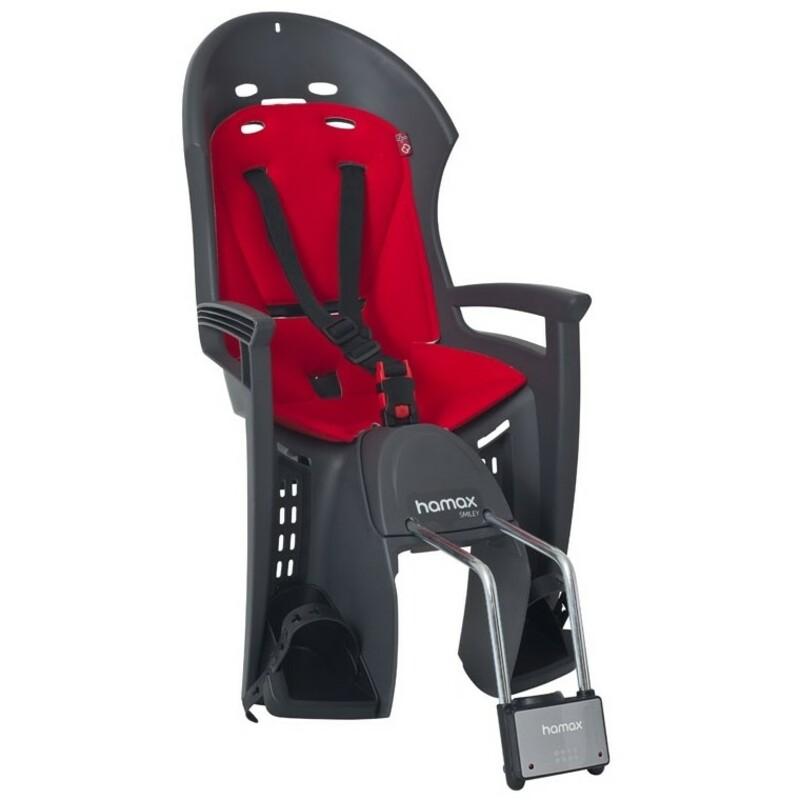 Hamax sedačka SMILEY zadní, tmavě šedá/červená