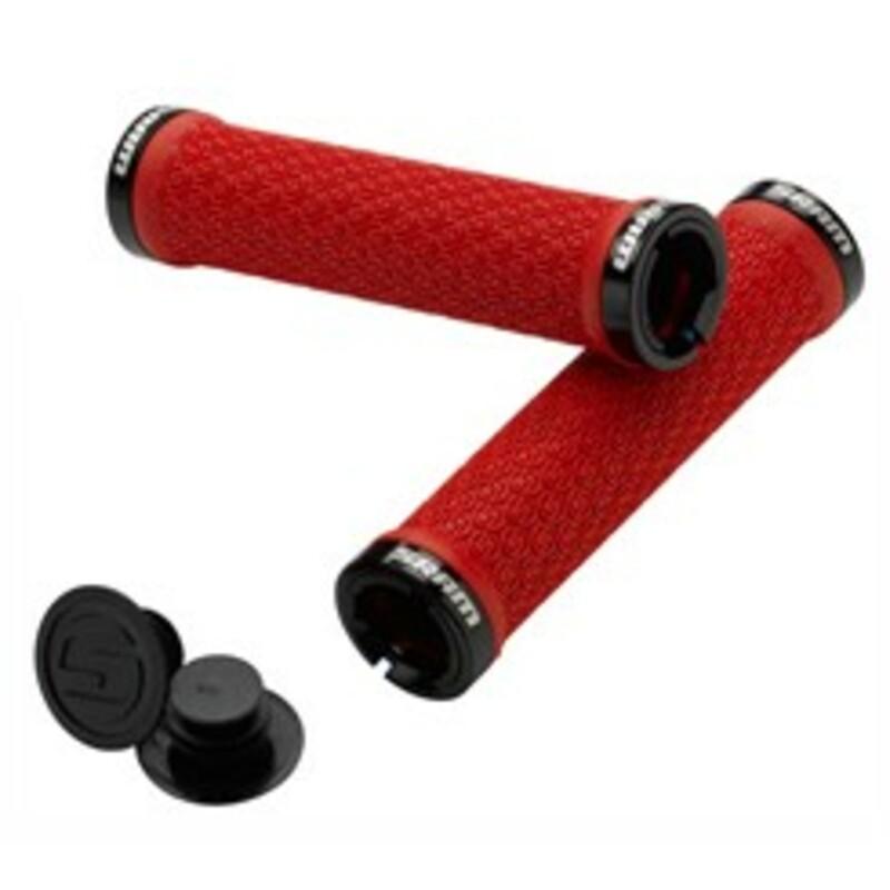 Sram SRAM Locking gripy červené s Double objímky & koncovky řidítek