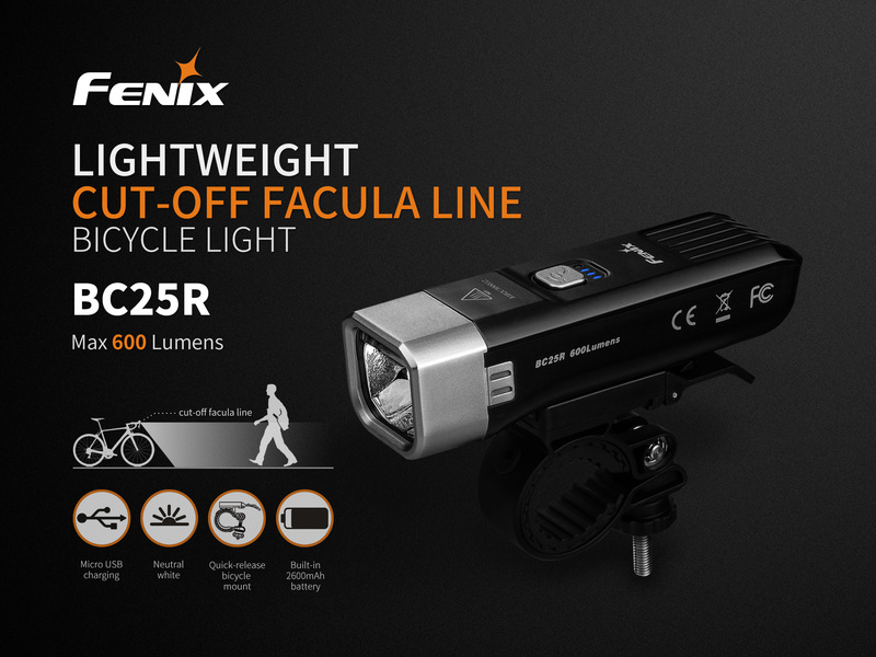 Fenix nabíjecí světlo BC25R