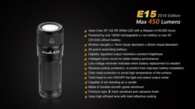 Fenix svítilna Fenix E15 XP-G2