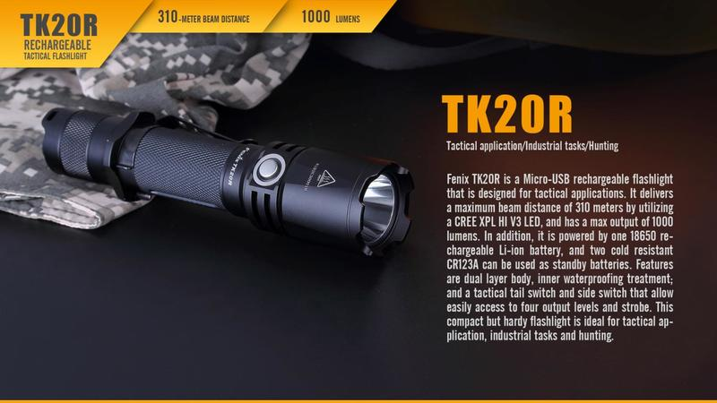 Fenix Taktická nabíjecí svítilna Fenix TK20R