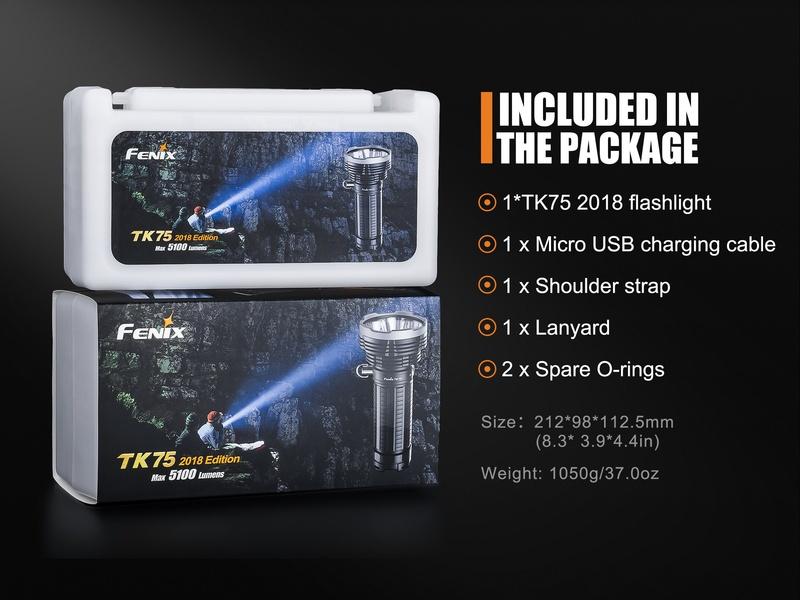 Fenix LED svítilna TK75 4xCree XHP35 HI
