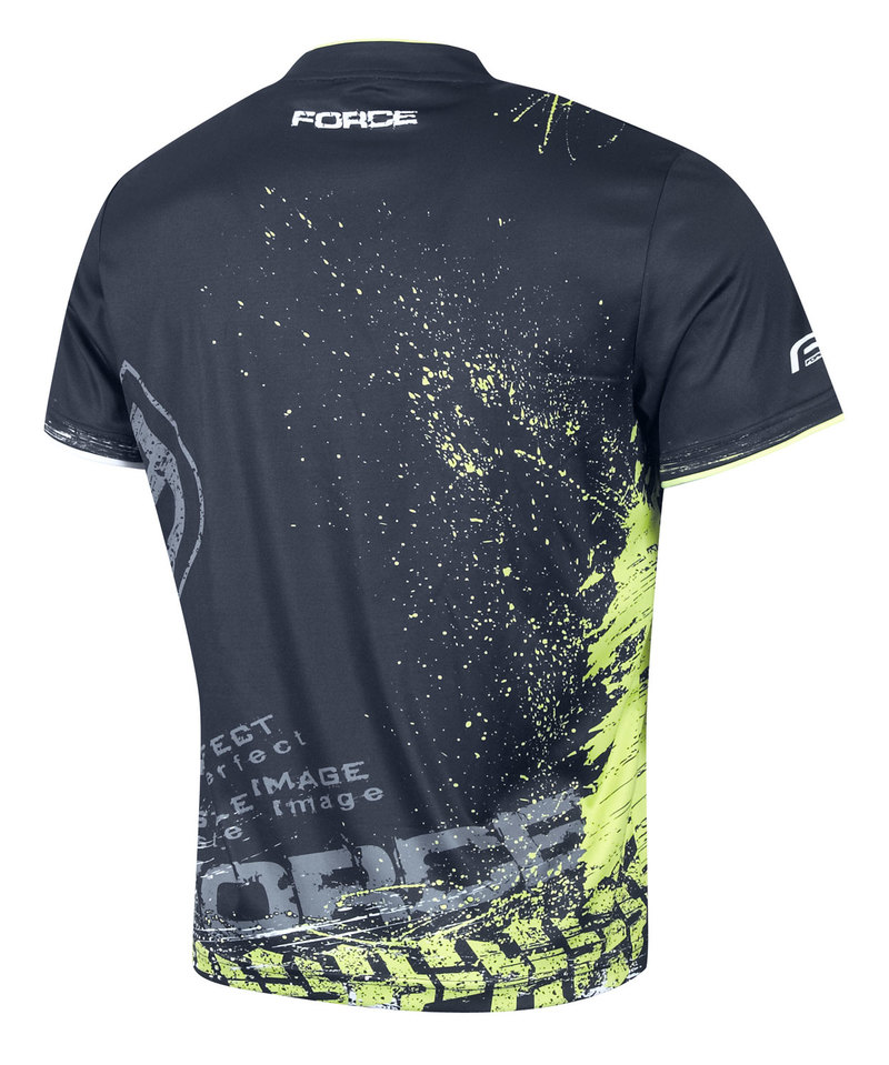 Force triko ART, černá-fluo