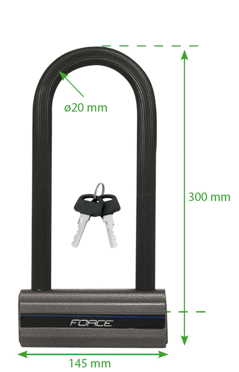 Force zámek podkova 30cm x 14,5cm