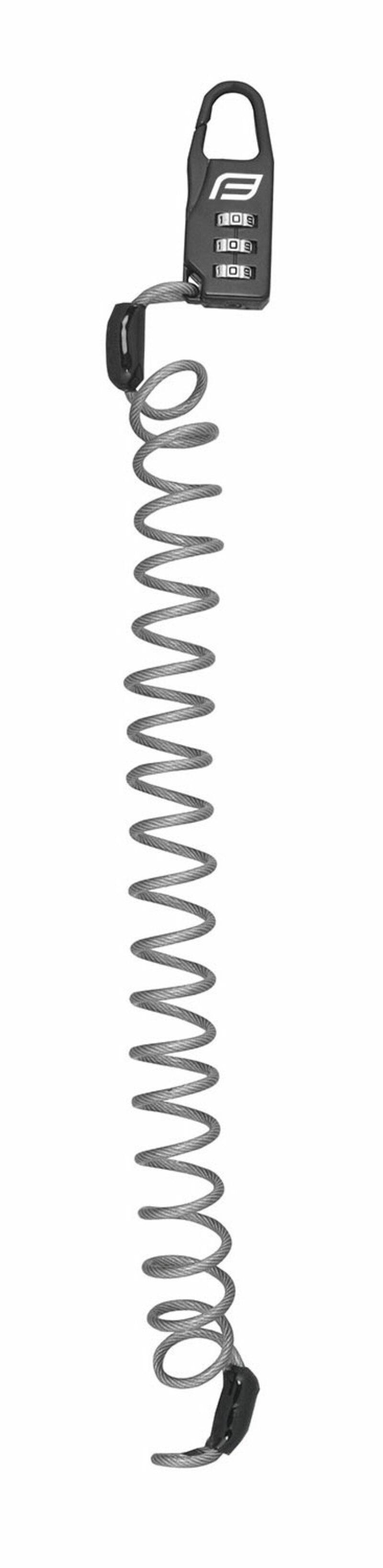 Force zámek SMALL spirálový kódový, šedý
