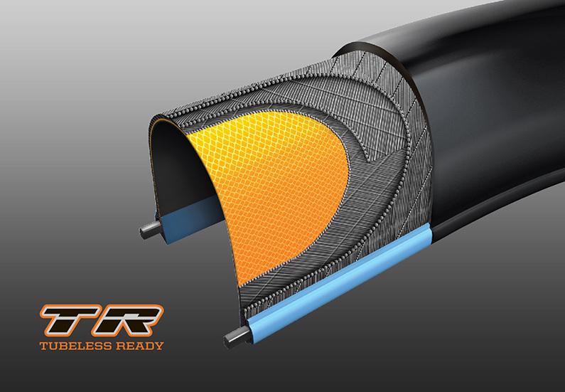 pláště maji navrženou patku pro bezdušový systém, pro 100% funkčnost je nutné použít těsnící tmel.